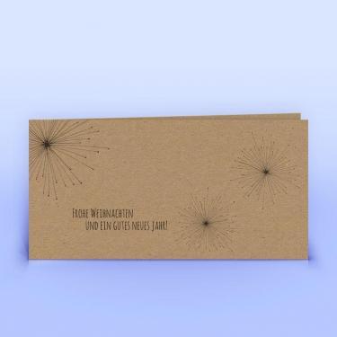 Weihnachtskarte Feuerwerk Naturpapier - Eco-Cards