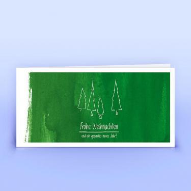 Weihnachtskarte grüne Weihnachtsgrüße - Eco-Cards