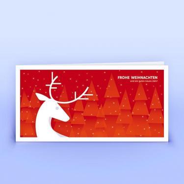 Weihnachtskarte Hirsch Illustration - Eco-Cards