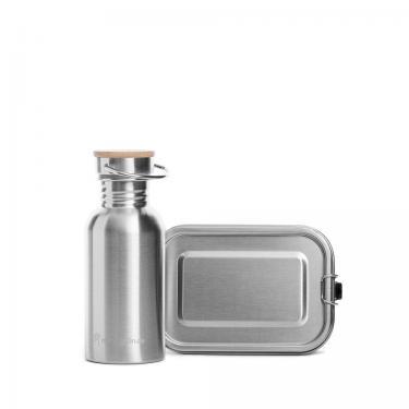 Edelstahl Brotdose und Trinkflasche Starterset mini