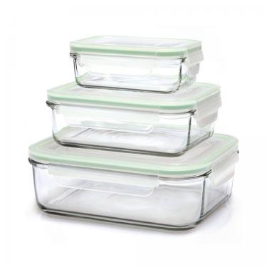 Glas Frischhaltedosen - rechteckig - 3er Set - von GlassLock