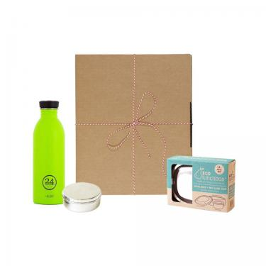 Geschenk Set Eco-Lunchbox oval