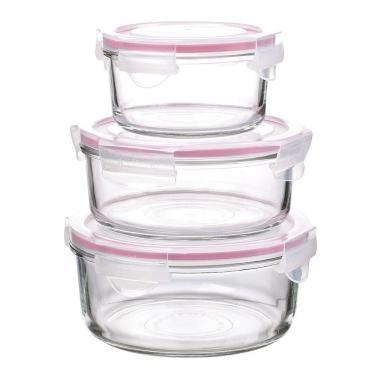 Glas Frischhaltedosen - rund - 3er Set - von GlassLock