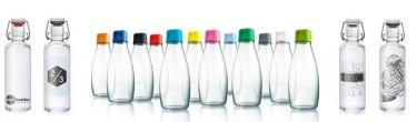 Glas Trinkflaschen