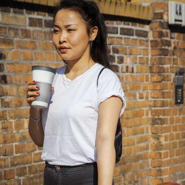 Coffee To Go Becher aus Porzellan - 0,47L