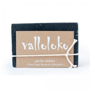 Körperseife Aktivkohle und Ylang-Ylang 100g Valloloko