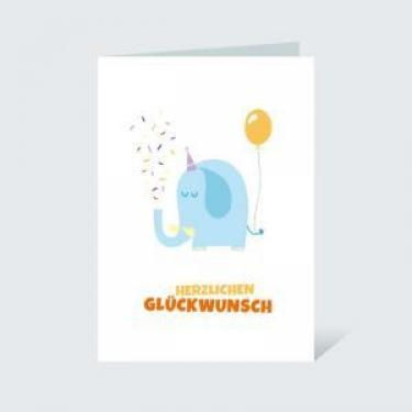 Glückwunschkarte DIN A6 für Geburtstag
