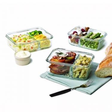 Lunchbox aus Glas mit Trenner DUO von Glasslock