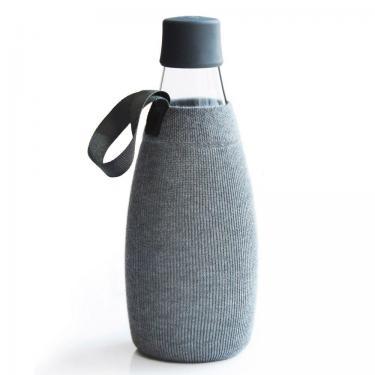 Textile Schutzhülle für Retap Trinkflasche aus Glas