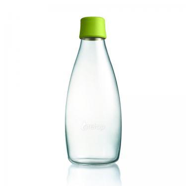 Glas Trinkflasche von Retap 0,8L