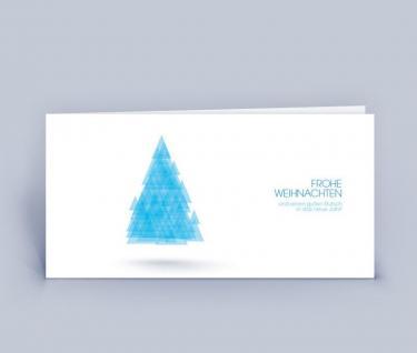 Weihnachtskarte DIN Lang Baum Dreiecke 5er Set