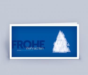 Geschäftliche Weihnachtskarten DIN Lang 5er Set