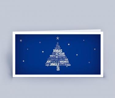 Weihnachtskarte DIN Lang mehrsprachiger Weihnachtsgruß 5er Set