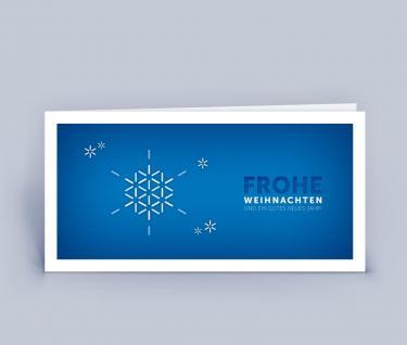 geschäftliche Weihnachtskarte DIN Lang Schneeflocke 5er Set
