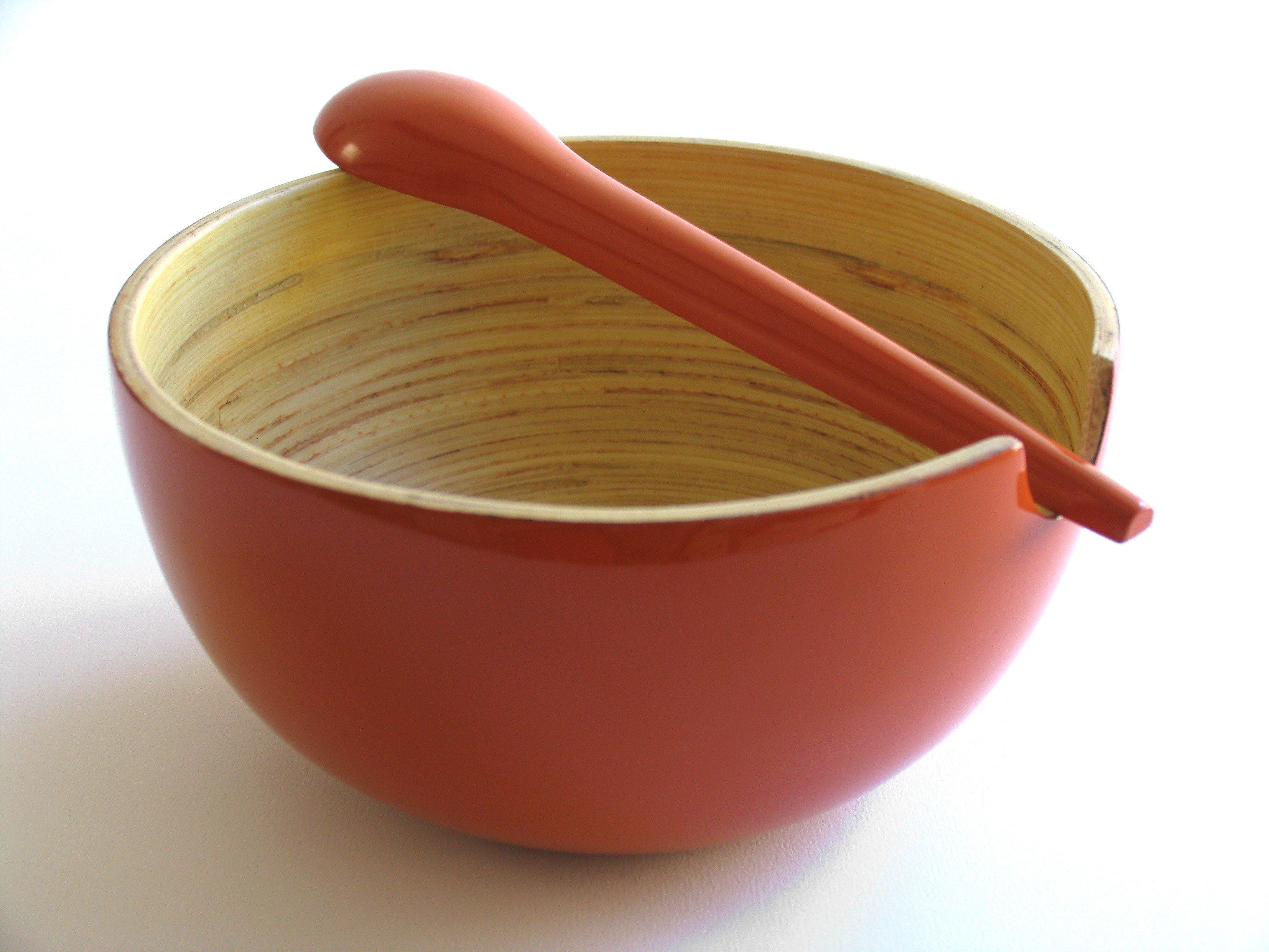 ekobo servierl ffel to rot tomato in bambusschalen im online shop von mehr gr. Black Bedroom Furniture Sets. Home Design Ideas