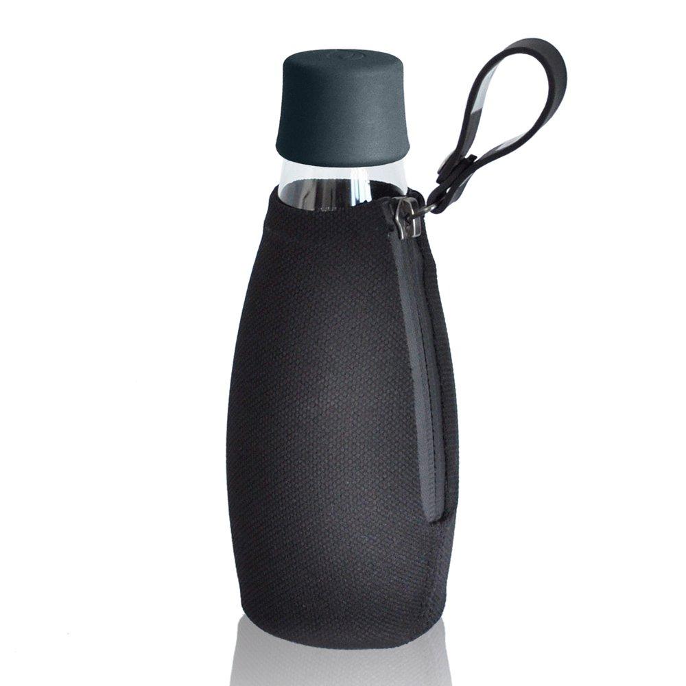 mehr gr n schutzh lle f r retap glas trinkflasche schwarz. Black Bedroom Furniture Sets. Home Design Ideas
