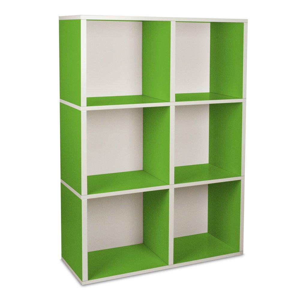 mehr gr n way basics regal tribeca gr n. Black Bedroom Furniture Sets. Home Design Ideas