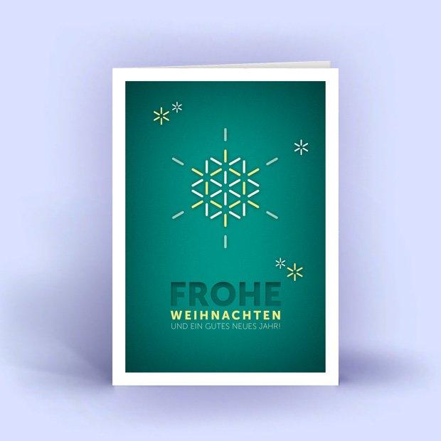 eine weihnachtskarte a6 mit moderner schneeflocke. Black Bedroom Furniture Sets. Home Design Ideas