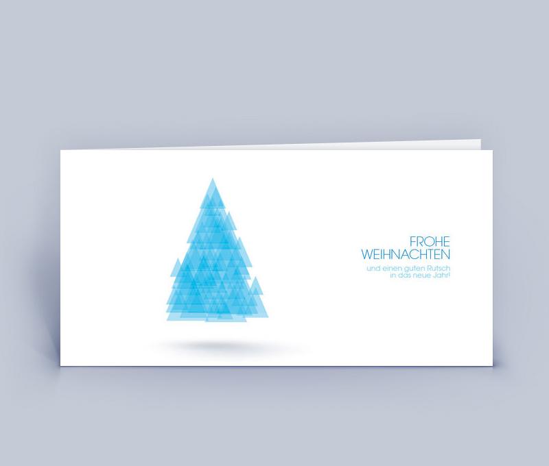 Moderne Weihnachtskarten.Weihnachtskarte Din Lang Baum Dreiecke 5er Set