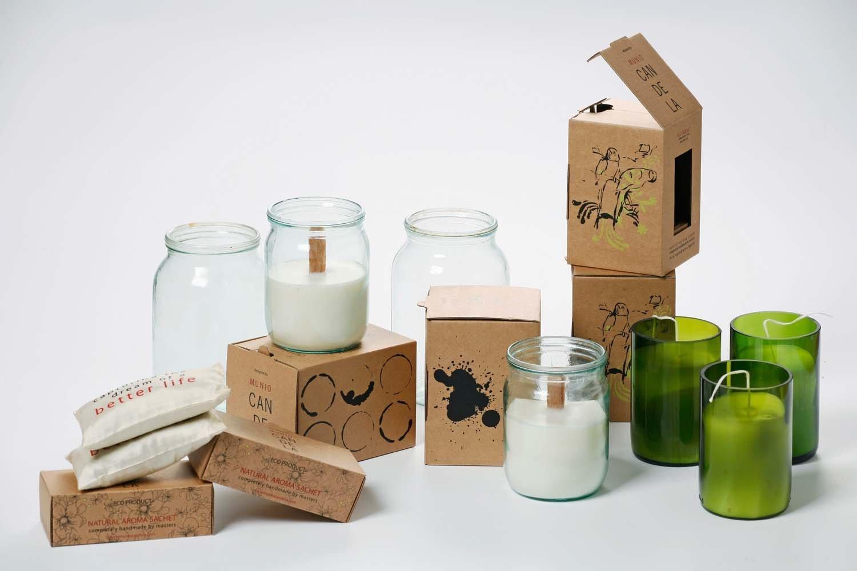 Kerzen aus Sojawachs in nachhaltiger Verpackung