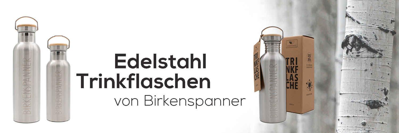 Edelstahl Flaschen Birkenspanner