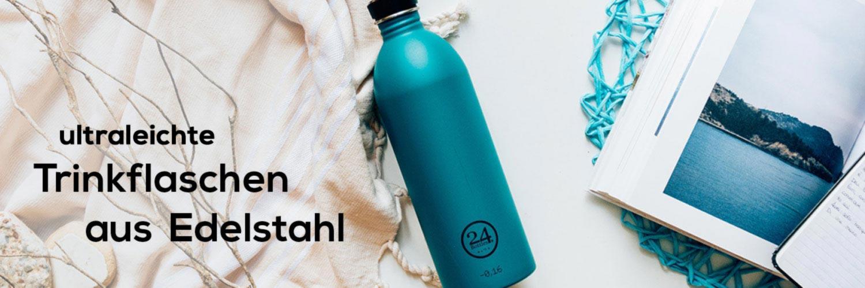 Edelstahl Trinkflaschen 24 Bottles Banner 1