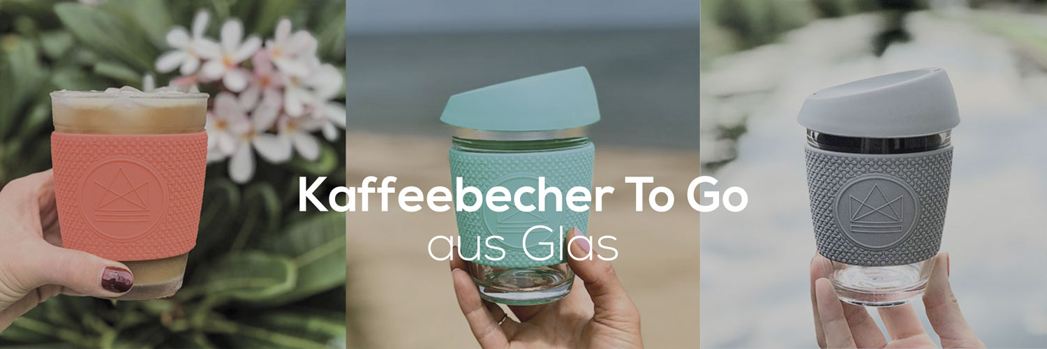 Kaffeebecher To Go aus Glas