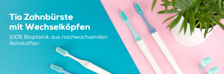 Tio Zahnbürste aus Biokunststoff Banner